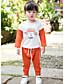 preiswerte Kleidersets für Mädchen-Mädchen Sets Streifen Einfarbig Andere Sommer Kleidungs Set