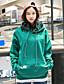 preiswerte Damen Kapuzenpullover & Sweatshirts-Damen Kapuzenshirt Lässig/Alltäglich Einfach Solide Mikro-elastisch Baumwolle Lange Ärmel Frühling Herbst