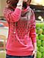 Damen Kapuzenshirt Lässig/Alltäglich Einfach Solide Punkt Unelastisch Baumwolle Polyester Lange Ärmel Herbst