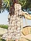 Damen Druck Einfach Lässig/Alltäglich Bluse,V-Ausschnitt Langarm Polyester