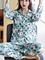 cheap Pajamas & Robes-Women's Suits Pajamas - Print, Animal