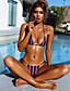 olcso Bikinik és fürdőruhák 2017-Női Pánt Rubin Bikini Fürdőruha Nyomtatott S M L / Sexy