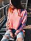 tanie Damskie bluzy z kapturem-Damskie Bawełna Długi rękaw Bluzy - Jendolity kolor, Styl artystyczny Modne Ponadgabarytowych