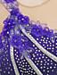billige Skøjtekjole-Kunstskøjtekjole Dame / Pige Skøjteløb Kjoler Spandex Bjergkrystal / Applikeret broderi Ydeevne / Fornøjelse Sport Skøjtetøj Håndlavet