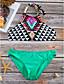 זול 2017ביקיני ובגדי ים-תחתונים גיאומטרי, דפוס - ביקיני קולר בוהו בגדי ריקוד נשים