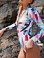 זול 2017ביקיני ובגדי ים-M L XL תבנית גאומטרית, בגדי ים חלק אחד (שלם) קשת כתפיה מתוחכם בגדי ריקוד נשים