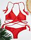 baratos Biquínis e Roupas de Banho Femininas-Mulheres Nadador Triângulo Biquíni - Sólido, Em Cruz Cavado