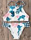 זול 2017ביקיני ובגדי ים-מכנס צבעים מרובים, דפוס - ביקיני בגדי ריקוד נשים