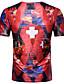 tanie Koszulki i tank topy męskie-T-shirt Męskie Wzornictwo chińskie Kwiaty Geometryczny
