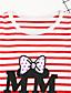 baratos Conjuntos para Meninas-Para Meninas Conjunto Diário Listrado Primavera Outono Todas as Estações Algodão Manga Longa Floral Listras Preto Vermelho