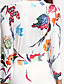 cheap Women's Dresses-Women's Plus Size Street chic Cotton Sheath Dress - Floral White Maxi V Neck