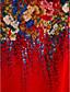 cheap Print Dresses-Women's Plus Size Going out Chiffon Dress - Floral Layered Print Summer Red Royal Blue XXXL XXXXL XXXXXL
