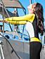 baratos Roupas de Mergulho & Camisas de Proteção-HISEA® Mulheres Segunda-pele para Mergulho Anti-Irradiação, Respirável Náilon Chinês Manga Longa Roupa de Banho Roupa de Praia Roupas de Mergulho Retalhos Zip posteriore Natação / Mergulho / Surfe