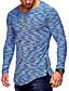 abordables Camisetas y Tops de Hombre-Hombre Básico Retazos - Algodón Camiseta, Escote Redondo Delgado Un Color Rojo XL / Manga Larga