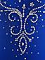 baratos Vestidos de Patinação no Gelo-Vestidos para Patinação Artística Mulheres Para Meninas Patinação no Gelo Vestidos Verde Azulado Elastano Elasticidade Alta Competição Roupa para Patinação Confeccionada à Mão Adornado Strass Sem