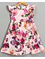 Χαμηλού Κόστους Φορέματα για κορίτσια-Νήπιο Κοριτσίστικα Ενεργό Καθημερινά Γεωμετρικό Αμάνικο Ως το Γόνατο Φόρεμα Μπεζ