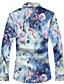 cheap Men's Shirts-Men's Cotton Shirt - Floral Blue XXXXL