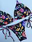cheap Bikinis-Women's Basic Rainbow Halter Cheeky Bikini Swimwear - Floral Backless S M L Rainbow