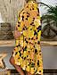 זול שמלות מודפסות-מקסי גיאומטרי - שמלה סווינג בסיסי בגדי ריקוד נשים