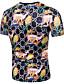 hesapli Erkek Tişörtleri ve Atletleri-Erkek Yuvarlak Yaka Tişört Desen, 3D Temel AB / ABD Beden Sihirli Küpler Gökküşağı / Kısa Kollu