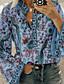abordables Chemises Femme-Chemise Femme, Géométrique Orange