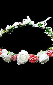 Cristal Tissu Papier Diadèmes Fleurs 1 Mariage Occasion spéciale Fête / Soirée Décontracté Casque