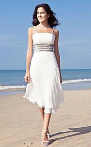 f63951edd8ca Pouzdrové Hranatý K lýtkům Šifón Svatební šaty vyrobené na míru s Flitry  podle LAN TING BRIDE