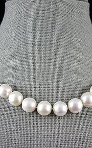 Dames Bloem Parel Sterling zilver Parelketting Y-Kettingen  -  Enkele Draad Wit Kettingen Voor Bruiloft Feest Vuosipäivä