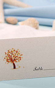 Card paper Place Cards 12 PVC Bag Placecard Holders Wedding Reception
