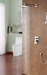 Shower Faucet - Contemporary Chrome Shower System Ceramic Valve