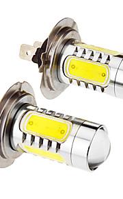 H7 7.5W 5-LED 6000K fredda lampadina LED bianco per l'automobile (12-24V, 2pcs)