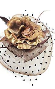 Femme Plume Tissu Casque-Décontracté Coiffure