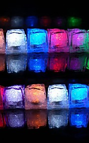 Smart Lights lysdioder RGB LED Ice Cubes Dekorativ Batterier Powered 1set