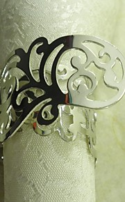 금속 꽃 냅킨 꽂이, 금속, 가로 3.5cm, 12 개 세트 도금