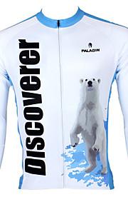 ILPALADINO Homme Manches Longues Maillot de Cyclisme Vélo Maillot, Garder au chaud, Séchage rapide, Résistant aux ultraviolets