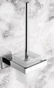 Toilet Brush Holder High Quality Contemporary Stainless Steel Ceramic 1 pc - Hotel bath