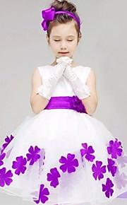 토들러 여아 꽃 플로럴 민소매 면 드레스 레드