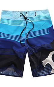 男性用 フローラル レッド グリーン ブルー ボトムス スイムウェア - チェック プリント M L XL レッド