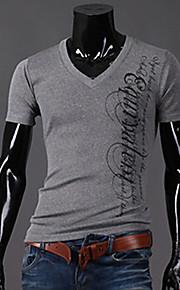 Ανδρικά T-shirt Καθημερινό Με Τύπωμα Κοντομάνικο Βαμβάκι