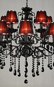 LWD Bougie Lustre Lumière d'ambiance - Cristal, 110-120V / 220-240V Ampoule non incluse / 30-40㎡ / E12 / E14