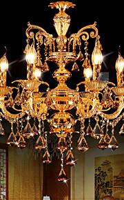 Lustre Lumière d'ambiance - Cristal, LED, 110-120V / 220-240V, Blanc, Ampoule non incluse / 10-15㎡ / E12 / E14