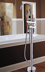 Bathtub Faucet - Contemporary Chrome Tub And Shower Ceramic Valve