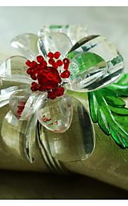 꽃 아크릴 냅킨 링 고품질 테이블 장식