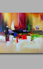 Peint à la main Abstrait Format Horizontal, Moderne Peinture à l'huile Hang-peint Décoration d'intérieur Un Panneau