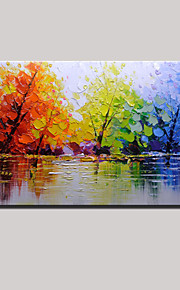 Oil Painting Hand Painted - Landscape Modern Canvas