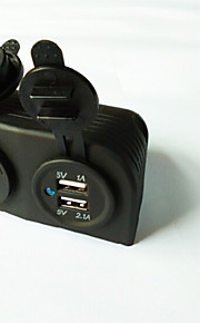 Lossmann dubbele USB autolader adapter en het stopcontact