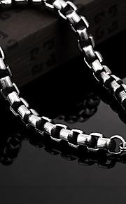 Bracciali a catena e maglie Vintage Da serata Da ufficio Casual Acciaio al titanio Gioielli Regali di Natale Bigiotteria Nero