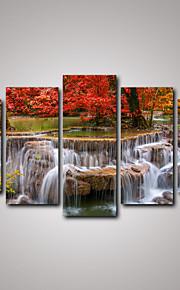 Paysage Réalisme, Cinq Panneaux Toile Format Horizontal Imprimé Décoration murale Décoration d'intérieur