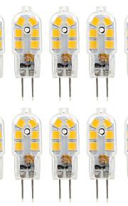 2.5 W LED Bi-pin 조명 250 lm G4 T 14 LED 비즈 SMD 2835 장식 따뜻한 화이트 차가운 화이트 내추럴 화이트 220-240 V 12 V, 10pcs / 10개 / RoHS 규제