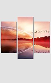 Toile Paysage Romance Moderne Cinq Panneaux Format Horizontal Décoration murale Décoration d'intérieur
